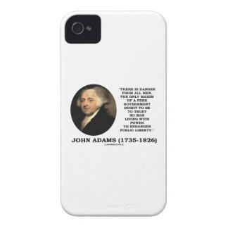 John Adams Danger All Men Maxim Free Government iPhone 4 Covers