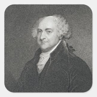 John Adams, engraved by James Barton Longacre (179 Square Sticker