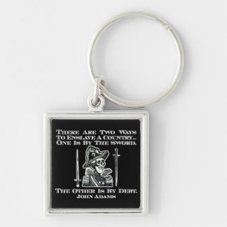 John Adams on Swords and Debt Silver-Colored Square Key Ring