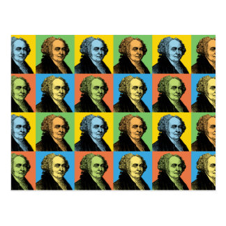 John Adams Pop-Art Postcard