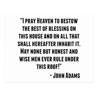John Adams Quote Postcard