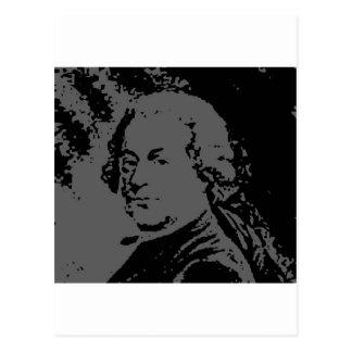 John Adams silhouette Postcard