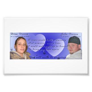 John and Dina- never forgotten memorial photo
