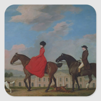 John and Sophia Musters riding at Colwick Hall Stickers