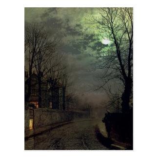 John Atkinson Grimshaw-A Lane In Headingley, Leeds Postcard