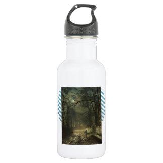 John Atkinson Grimshaw- A moonlit lane 532 Ml Water Bottle