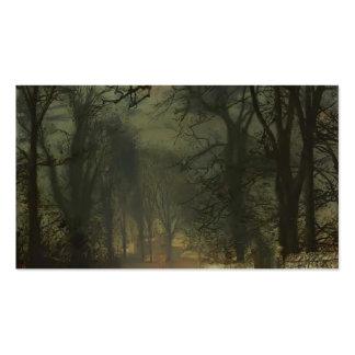 John Atkinson Grimshaw- A moonlit lane Business Cards