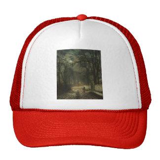 John Atkinson Grimshaw- A moonlit lane Hat