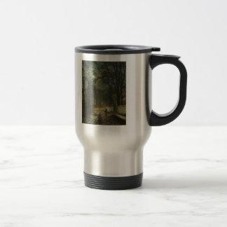 John Atkinson Grimshaw- A moonlit lane Coffee Mug