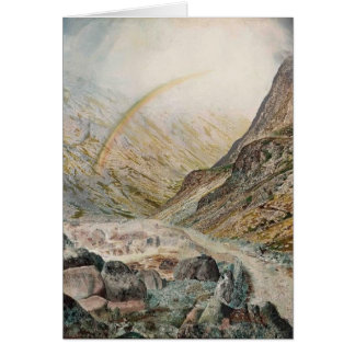 John Atkinson Grimshaw-A Mountain Road, Flood Time Greeting Cards