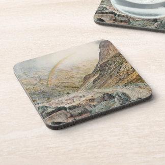 John Atkinson Grimshaw-A Mountain Road, Flood Time Coasters