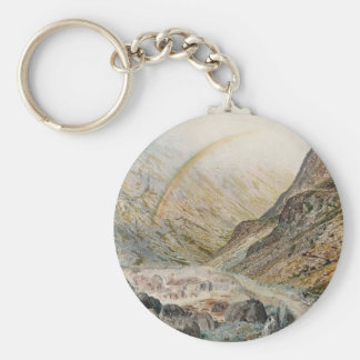 John Atkinson Grimshaw-A Mountain Road, Flood Time Key Chains