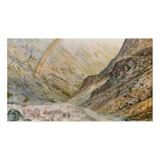 John Atkinson Grimshaw-A Mountain Road, Flood Time Pack Of Standard Business Cards