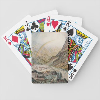 John Atkinson Grimshaw-A Mountain Road, Flood Time Bicycle Poker Deck