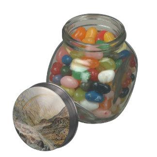 John Atkinson Grimshaw-A Mountain Road Flood Time Glass Jar