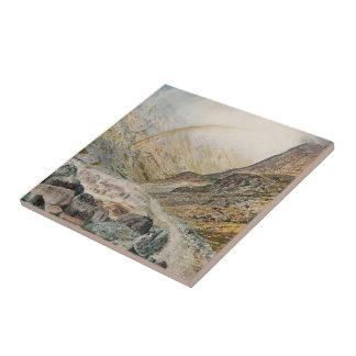 John Atkinson Grimshaw-A Mountain Road, Flood Time Ceramic Tiles