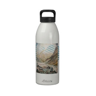 John Atkinson Grimshaw-A Mountain Road, Flood Time Water Bottles