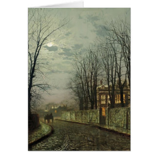 John Atkinson Grimshaw- A Wintry Moon Greeting Card