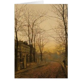John Atkinson Grimshaw- An Autumn Idyll Greeting Card
