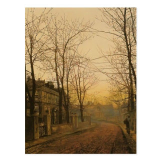 John Atkinson Grimshaw- An Autumn Idyll Postcard