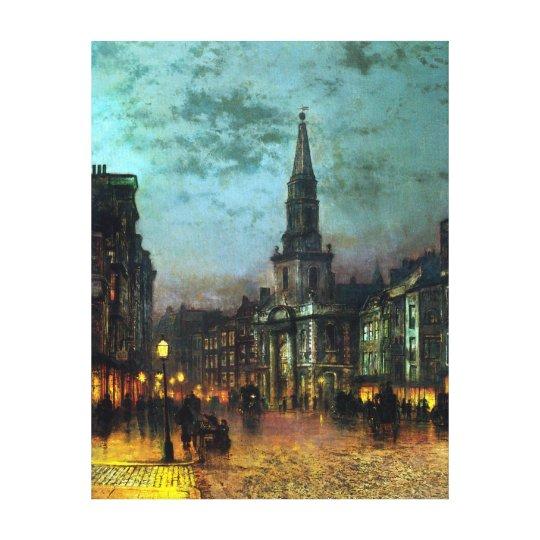 John Atkinson Grimshaw Blackman Street, London Canvas Print