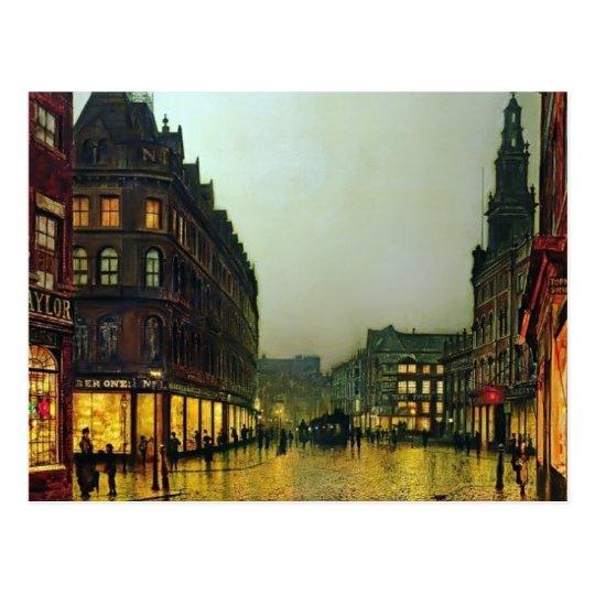 John Atkinson Grimshaw- Boar Lane, Leeds Postcard
