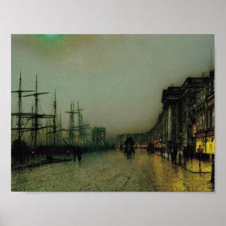 John Atkinson Grimshaw- Canny Glasgow Poster