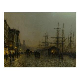 John Atkinson Grimshaw - Glasgow, Saturday Night Postcard