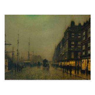 John Atkinson Grimshaw-Liverpool Quay by Moonlight Post Card