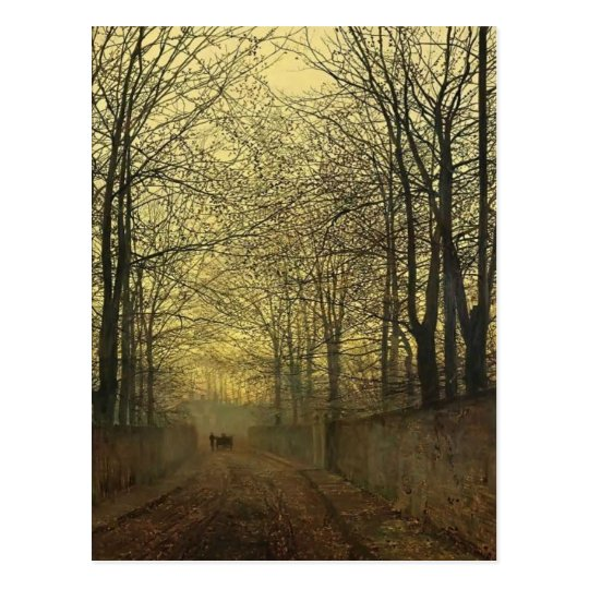 John Atkinson Grimshaw- October Gold Postcard