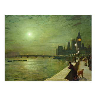 John Atkinson Grimshaw - Reflections on the Thames Postcard