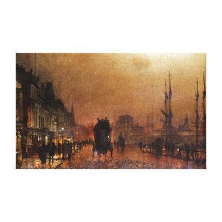 John Atkinson Grimshaw The Broomielaw, Glasgow Canvas Print