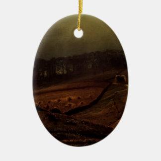John Atkinson Grimshaw- Under The Harvest Moon Christmas Tree Ornament