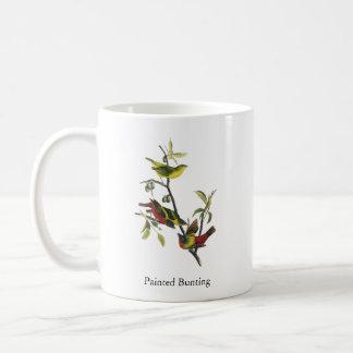 John Audubon Painted Bunting Print Basic White Mug