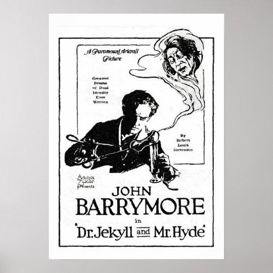 John Barrymore Jekyll and Hyde 1920 Movie Ad