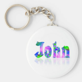 John Basic Round Button Key Ring