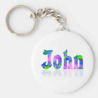 John Basic Round Button Key Ring