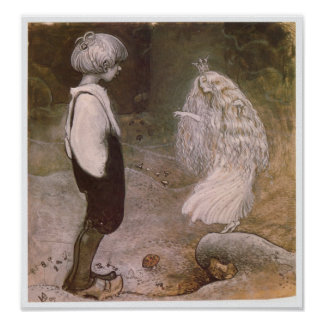 John Bauer  Changed by magic Poster