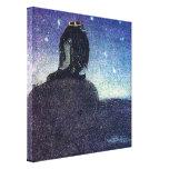 John Bauer King of Troll Mountain in Blue Canvas Prints