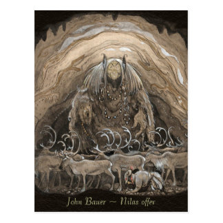 John Bauer Nilas offer CC0498 Postcard