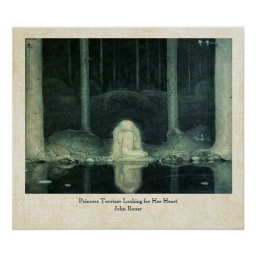 John Bauer Princess Tuvstarr Looking For Her Heart Posters