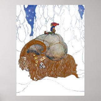 John Bauer The Christmas Goat Print