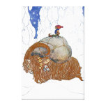 John Bauer The Christmas Goat Scandinavian Stretched Canvas Prints