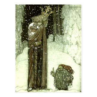 John Bauer The Princess and the Troll Postcard