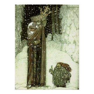 John Bauer The Princess and the Troll Posters