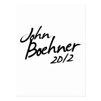 JOHN BOEHNER AUTOGRAPH 2012 POSTCARD