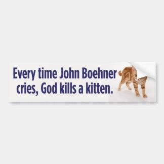 John Boehner Cries Bumper Sticker