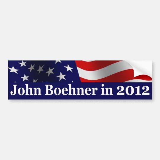 John Boehner in 2012 Bumper Sticker