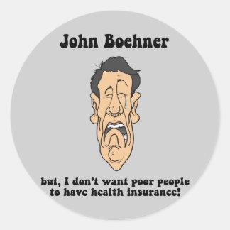 John Boehner Round Stickers