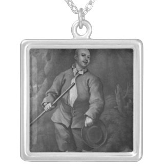 John Broughton, engraved by F. Ross, 1842 Silver Plated Necklace